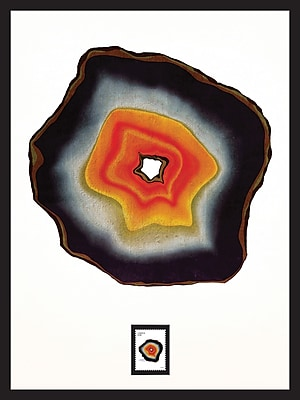 Agate A Framed Wall Art with Postage Stamp