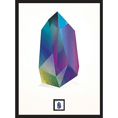 Tanzanite Framed Wall Art with Postage Stamp
