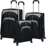 3pc Expandable EVA Luggage Set with 360 4-Wheel System