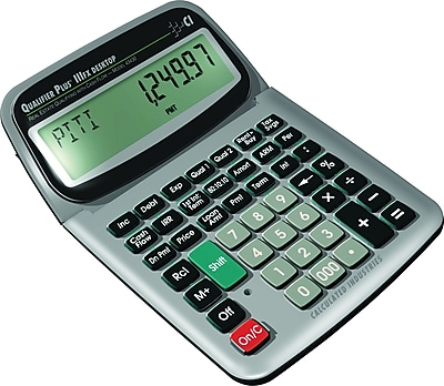 Calculated Industries Qualifier Plus IIIFX Desktop 43430 Residential and Commercial Real Estate Finance Calculator
