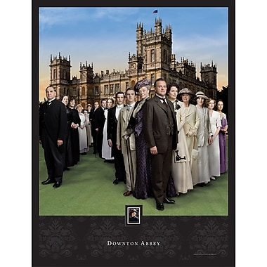 Downton Abbey Season 1 Framed Wall Art with Postage Stamp
