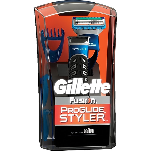 Gillette Fusion ProGlide Styler Bonus Pack with Fusion ProGlide Clear Shave Gel | Staples