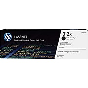 HP 312X Black High Yield Toner Cartridge, 2/Pack (CF380XD)