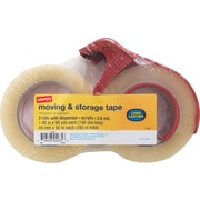 "Staples® Heavy-Duty Storage Tape with Dispenser, 1.88"" x 98 yards, Clear, 2/Pack (ST-A26-902DP3)"