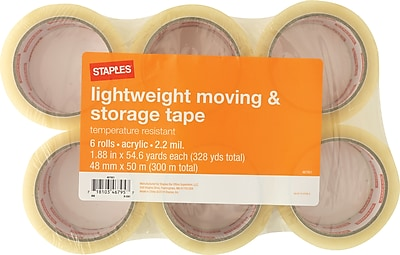 Staples Lightweight Moving and Storage Packing Tape, 1.88