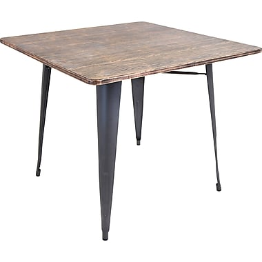 Lumisource Oregon Wood and Metal Dining table: 36
