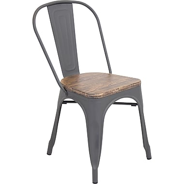 LumiSource Oregon Dining Chair Wood and Metal