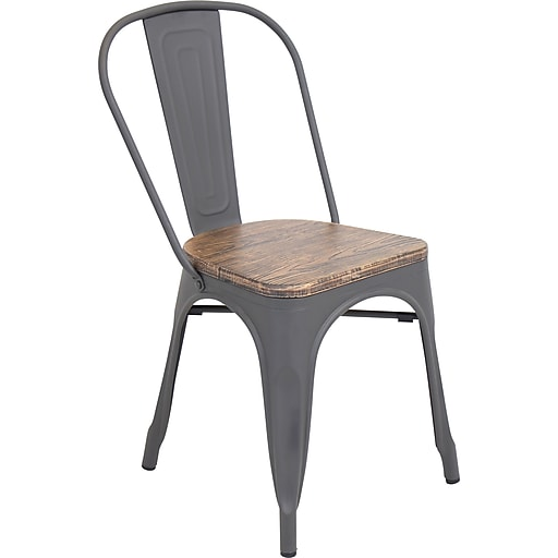 Lumisource Oregon Dining Chair Wood And Metal Rollover Image To Zoom In Https Www Staples 3p S7 Is