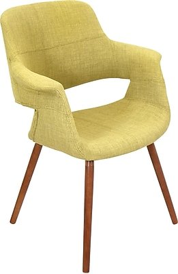 Lumisource Vintage Flair Accent Chair, Green Fabric