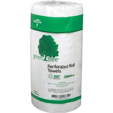 Medline® Green Tree™ Deluxe Roll Towels, White