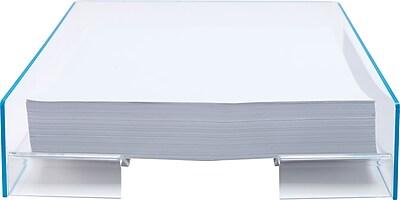 Staples Acrylic Blue Edge Letter Tray