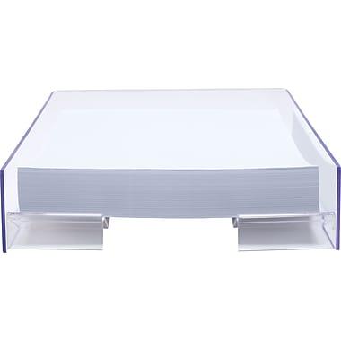 Staples Acrylic Purple Edge Letter Tray