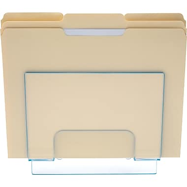 Staples Acrylic Blue Edge Magazine Wall File