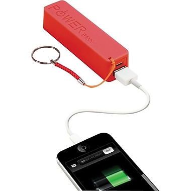 Urge Basics PowerPro 2,000mAh USB Keychain Charger, Red