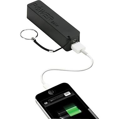 Urge Basics PowerPro 2,000mAh USB Keychain Charger, Black