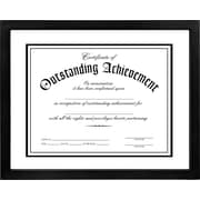 "Malden Glass Floater Wood Document Frame, Black, 8.5"" x 11"""
