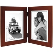 "Malden Classic Linear Split Double Wood Picture Frame, Dark Walnut, 5"" x 7"""