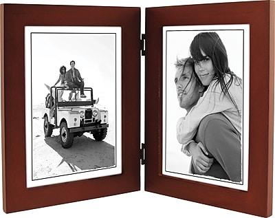 Malden Classic Linear Split Double Wood Picture Frame, Dark Walnut, 5