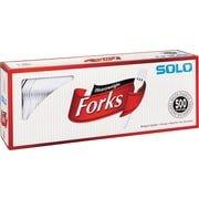 Solo® Heavyweight Plastic Cutlery , Forks , White , 500/CT