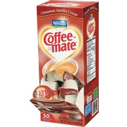 Nestlé® Coffee-mate® Liquid Coffee Creamer Singles, Cinnamon Vanilla, 50/Box