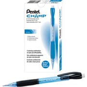 Pentel Champ® Automatic Pencils .7mm, Blue Barrel, Dozen
