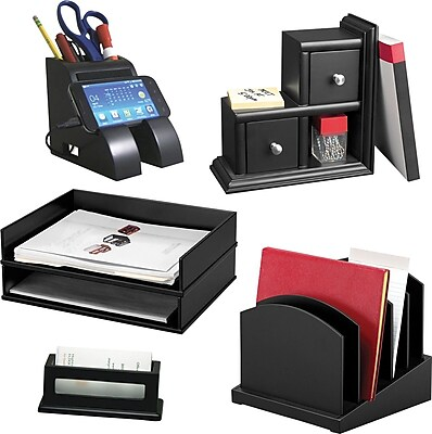 Victor Desk Accessories Collection, Midnight Black