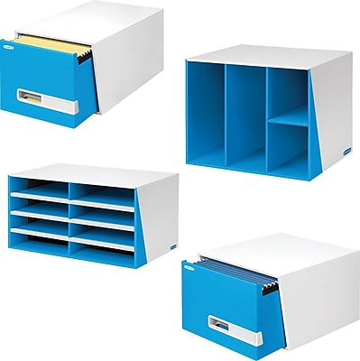 Bankers Box® Premier™ Desk Accessories, Blue/White