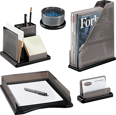 Rolodex™ Distinctions Metal/Wood Desk Accessories