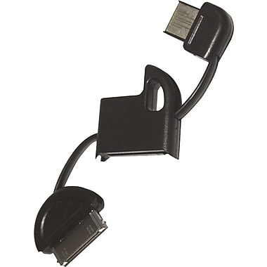 FOB iPhone & iPod 30 Pin Cable Keychains, Black