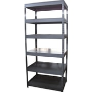 6-Shelf Storage Rack, Dark Gray