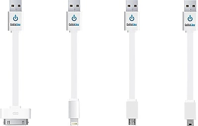 CableLinx™ Value Pack, USB Charge & Sync* Cables, White