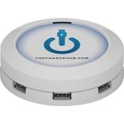 ChargeHub™ USB Universal Charging Station, Round, White