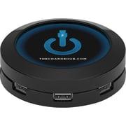 ChargeHub™ USB Universal Charging Station, Round, Black