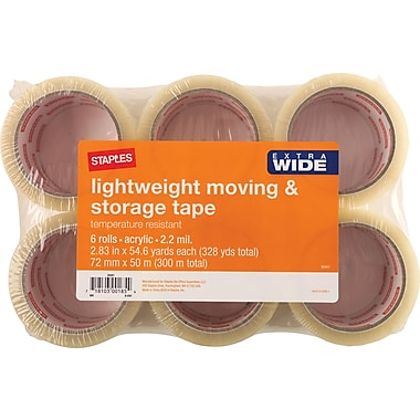 Staples Lightweight Moving and Storage Packing Tape, 2.83