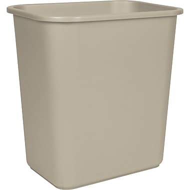 Staples® 26.6L Wastebasket, Taupe