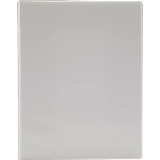 simply round 3 ring view binder white 26644 staples