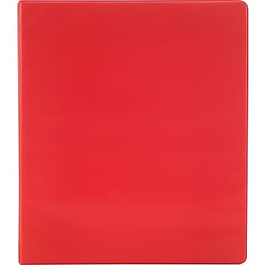 Simply 1.5-Inch Round 3-Ring Non-View Binder, Red (26583)