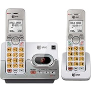 AT&T EL52203 DECT 6.0 2-Handset Expandable Cordless Phone with Digital Answering System & Caller ID/Call Waiting, Silver