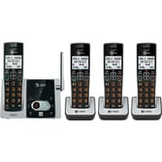 AT&T CL824213 DECT 6.0 Expandable Cordless Phone with Answering System and Caller ID/Call Waiting, Black/Silver, 4 Handsets