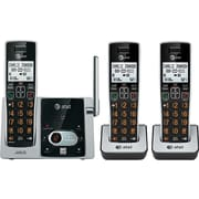AT&T CL82313 DECT 6.0 Expandable Cordless Phone with Answering System and Caller ID/Call Waiting, Black, 3 Handsets