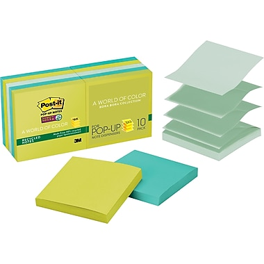 Post-it® Recycled Super Sticky Pop-up Notes, 3