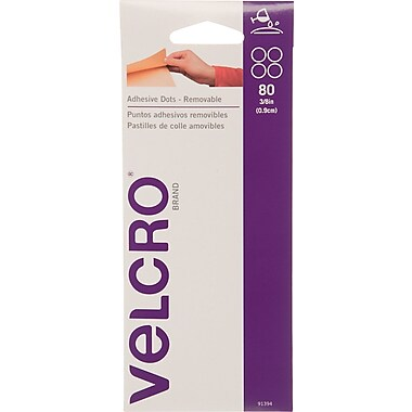 Velcro Removable Adhesive Dots, Clear, 80/Pack