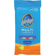 Pledge® Multi-Surface Clean & Dust Wipes, Fresh Citrus, 25 Wipes/Pack