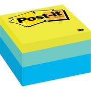"Post-it® 3"" x 3"" Blue Wave Designer Memo Cube, Each"