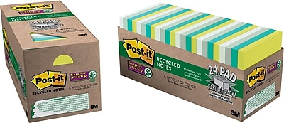 Post-it® Recycled Super Sticky Notes, 3