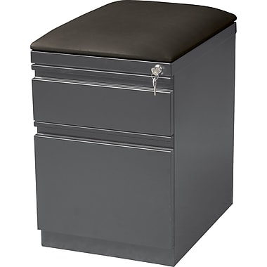 Staples 2 Drawer Mobile/Pedestal File, Black,Letter, 15''W