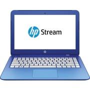 "HP Stream 13-c010nr 13.3"" Laptop with HD WLED-backlit display, Intel® Celeron® Turbo Boost Processor, 2GB RAM, Windows 8.1, Blue"