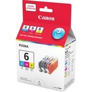 Canon® - Réservoirs d'encre BCI-6 couleur, paquet économique (4706A016)