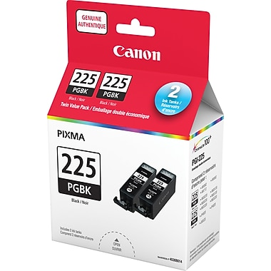Canon® PGI-225 Black Ink Tanks, Twin Pack (4530B005)