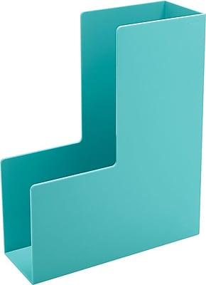 Poppin Aqua Magazine Plastic File Box